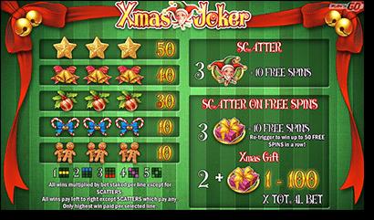 Xmas Joker Christmas real money slots