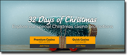 32Red Casino - 32 Days of Christmas bonuses