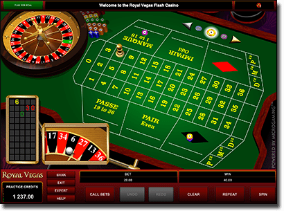 French roulette online at Royal Vegas Casino