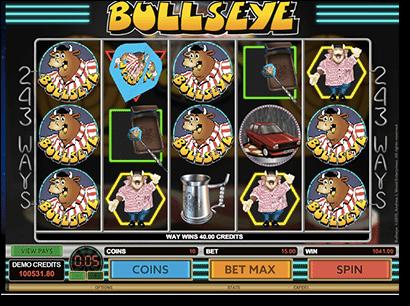 Bullseye online pokies by Microgaming