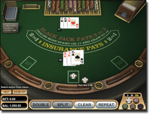 Instant play BetSoft blackjack games