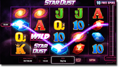 Stardust online slots by Microgaming