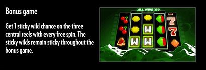 Arcader bonus features and symbols