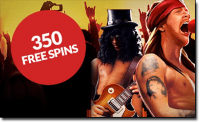 Guns 'N Roses online pokies at Guts Casino
