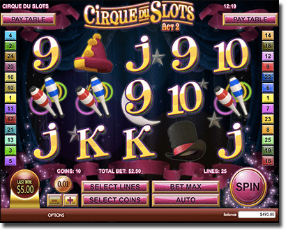 Cirque Du slots by Rival Gaming