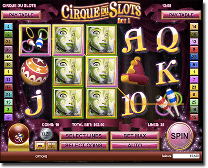 Cirque Du Slots - Expanding Wilds feature