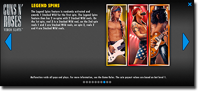 Guns 'n Roses pokies special gameplay features and bonuses