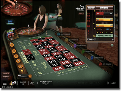 Live dealer roulette by Microgaming