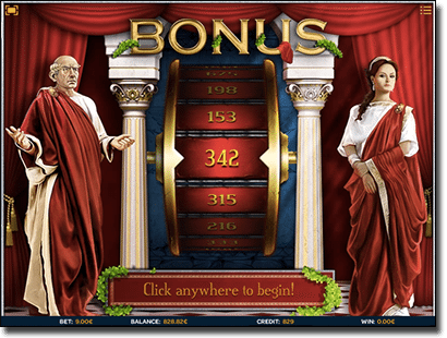 Luxury Rome HD free spins wheel bonus