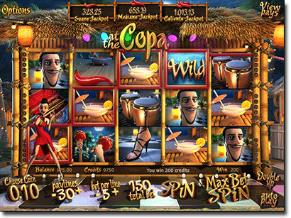 At the Copa 3D online pokies by BetSoft