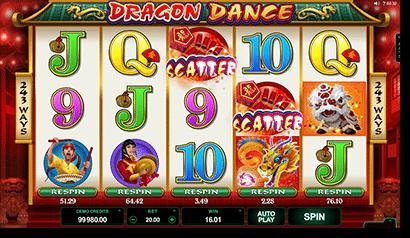 Dragon Dance pokies at Roxy Palace