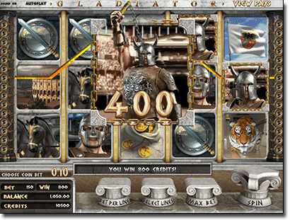 Gladiator 3D online pokies by BetSoft