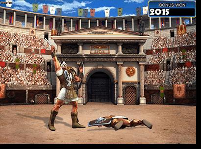 Gladiator 3D pokies battle bonus feature