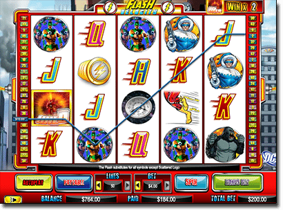 The Flash online pokies by Cryptologic