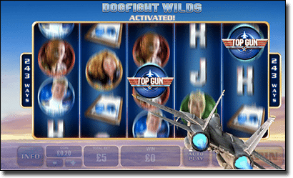 Top Gun pokies - Dogfight Wilds special feature