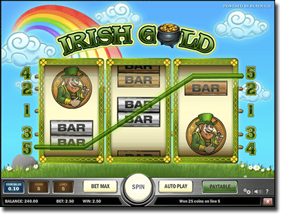 Irish Gold pokies by Play'n Go