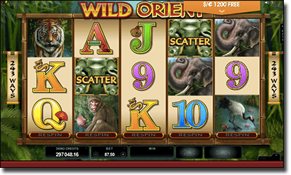 Wild Orient online pokies by Microgaming