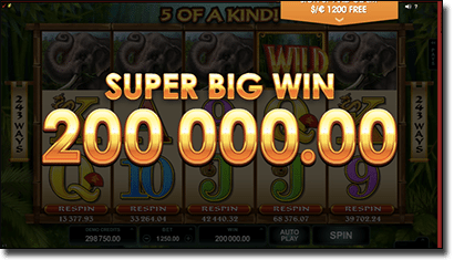 Super Big Win with max bets in Wild Orient pokies