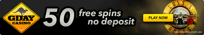 G'Day Casino - Get your no-deposit welcome bonus now