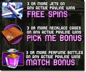 Free spins and bonuses in The Glam Life online pokies