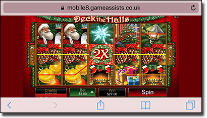 Microgaming Christmas pokies Deck the Halls