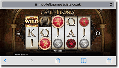 Game of Thrones pokies based on HBO television show