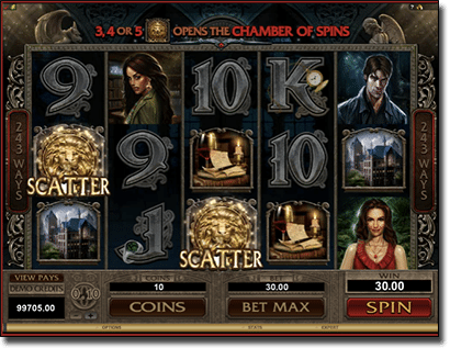 Immortal Romance vampire-themed pokies by Microgaming