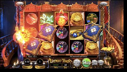 Alkemor's Tower 3D slots