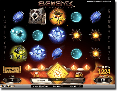 Elements The Awakening online pokies by NetEnt