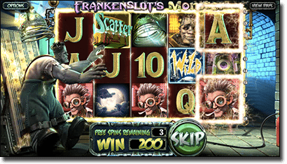 Frankenslot's Monster online pokies by BetSoft