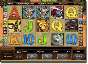Mega Moolah progressive jackpot slot by Microgaming