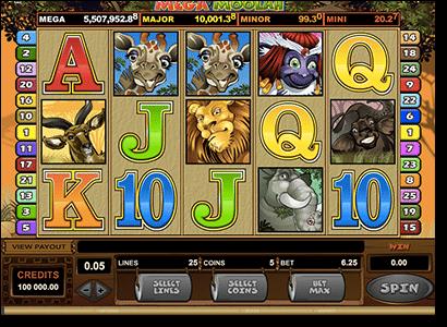 Mega Moolah progressive jackpot pokies by Microgaming