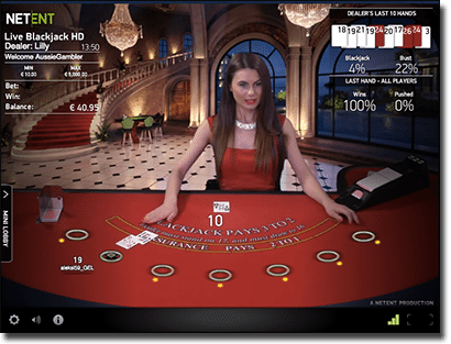 Live dealer NetEnt blackjack multiplayer games