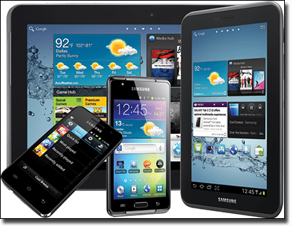 Samsung Galaxy tablets and smartphones for mobile gambling