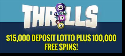 Thrills Casino April free spins and cash bonuses