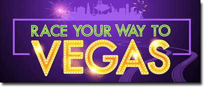 Race your way to Vegas at 32Red and Roxy Palace Casinos