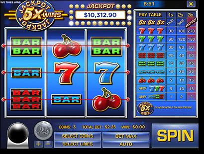 Jackpot 5X Wins online pokies