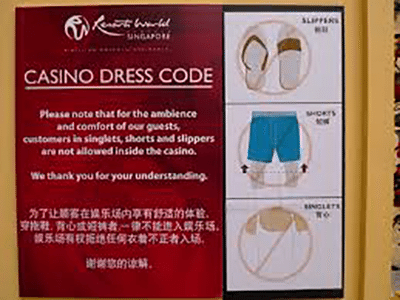 Casino dress codes