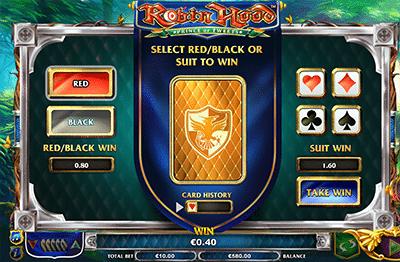 Robin Hood pokies gamble feature