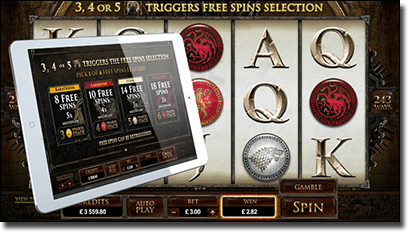 Game of Thrones pokies at 32Red.com