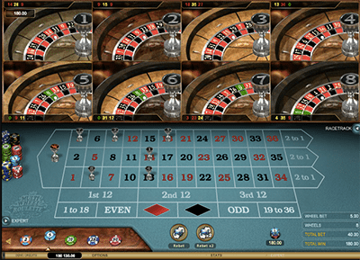 Multi-Wheel Roulette Gold by Microgaming