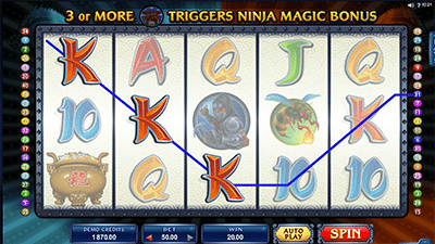 Ninja Magic online pokies by Microgaming