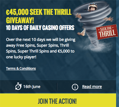 Thrills.com new welcome bonus