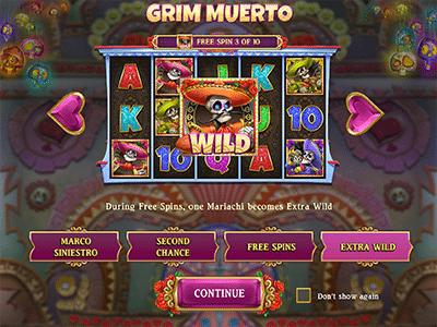 Grim Muerto special bonus features