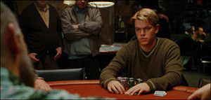 Mike McDermott from Rounders - top fictional poker player