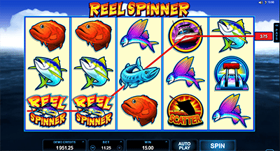 Reel Spinner online pokies by Microgaming