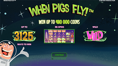 When Pigs Fly! special bonus features