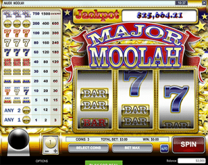 Major Moolah progressive jackpot pokies by Rival Gaming