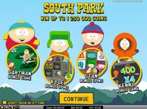 South Park online pokies special gameplay features