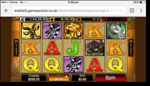Mega Moolah online progressive jackpot pokies on mobile